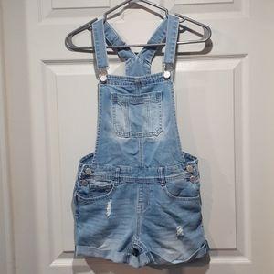 Ardene blue denim short overalls